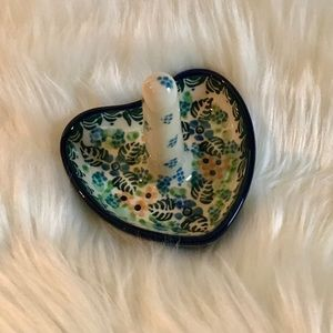 🆕NWOT 💯Polish Pottery Ring Holder
